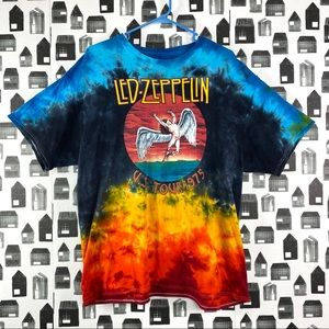 Led Zeppelin Tie Dye Short Sleeve Band T-shirt